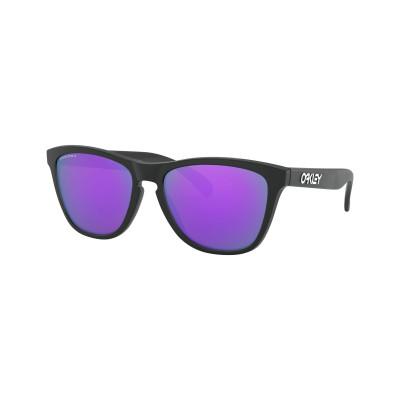 Slnečné okuliare OAKLEY FROGSKINS MATTE BLACK W/PRIZM čierne/fialové