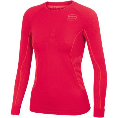 a54eb584b27c Sportful 2nd Skin Tričko dlhý rukáv dámske červené