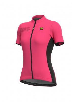 Letný cyklistický dres dámsky Alé SOLID Color Bock Lady ružový