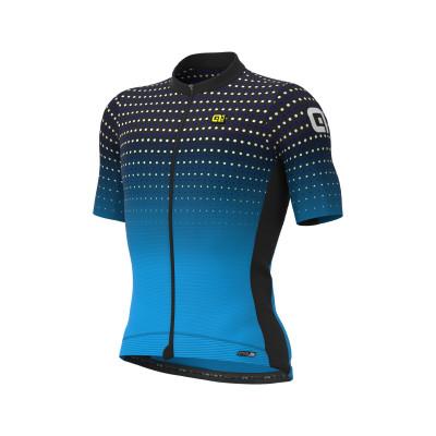 Letný cyklistický dres pánsky ALÉ PRS BULLET cierny/tyrkysový