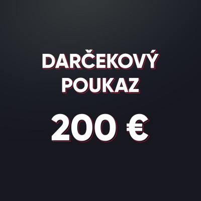 Darčeková poukážka v hodnote 200 € - elektronická forma