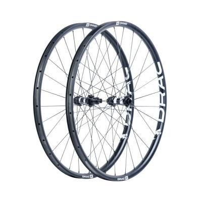Karbónové kolesá pre horský bicykel D.R.A.C. Wheels TB DRAC 29, DT350 Boost, plášť, čierne/biele