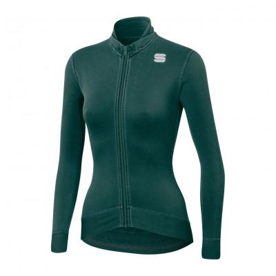 Cyklistický dres dámsky Sportful Monocrom Thermal zelený