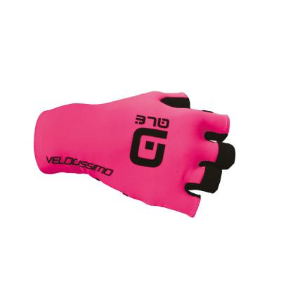 Letné cyklistické rukavice Alé Velocissimo Crono Glove ružové