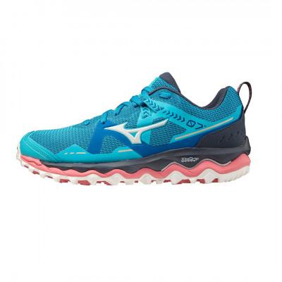Bežecké tenisky unisex Mizuno WAVE MUJIN 7 modré/ružové