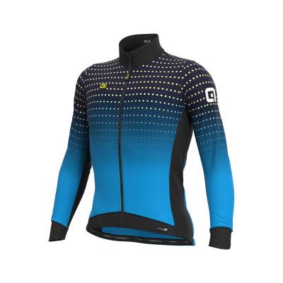 Zimná cyklistická bunda pánska Alé PRS Bullet DWR Stretch modrá