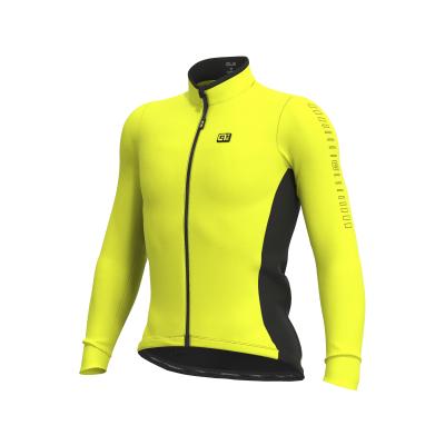 Zateplený cyklistický dres pánsky Ale Cycling SOLID Fondo fluo žltý
