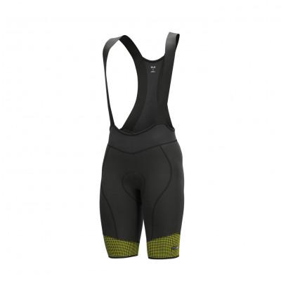 Letné cyklistické nohavice pánske ALÉ PRS MASTER 2.0 čierne/žlté
