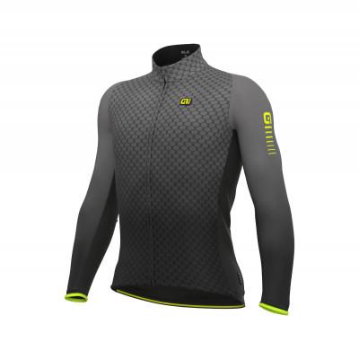 Zateplený cyklistický dres pánsky Alé R-EV1 Clima Protection 2.0 Velocity wind G+ sivý