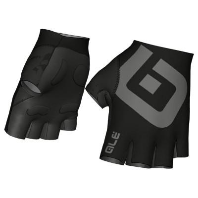 Letné cyklistické rukavice ALÉ AIR GLOVE čierne/sivé