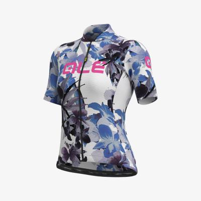 Letný cyklistický dres dámsky ALÉ SOLID BOUQUET LADY biely