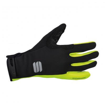 Zimné cyklistické rukavice Sportful Gore WindStopper Essential 2 čierne/fluo žlté