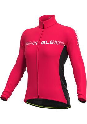 Zateplený cyklistický dres dámsky ALÉ R-EV1 CLIMA PROTECTION 2.0 FUTURE RACE LADY ružový
