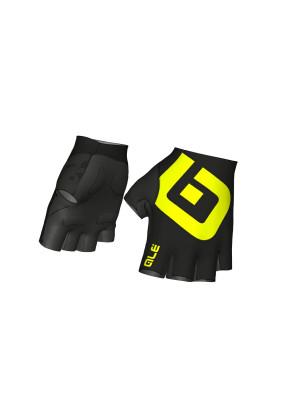 Letné cyklistické rukavice ALÉ AIR GLOVE - čierno-fluo žlté