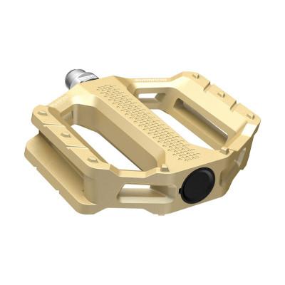 Platformové MTB pedále Shimano FLAT EF202 zlaté