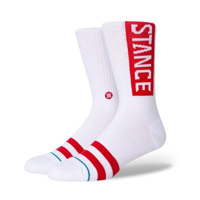 Ponožky Stance OG/WHITERED biele/červené