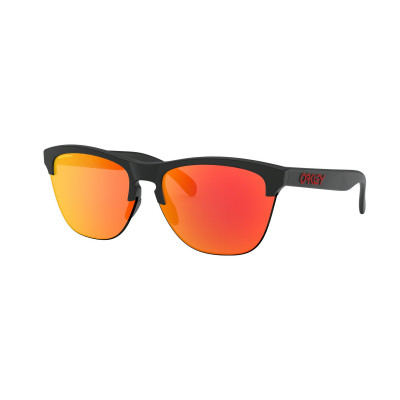 Slnečné okuliare OAKLEY FROGSKINS LITE MATTE BLACK W/PRIZM RUBY čierne/oranžové
