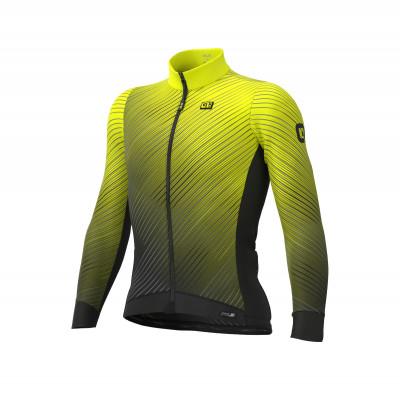 Zateplený cyklistický dres Ale Cycling pánsky PR-S Storm žltý/čierny