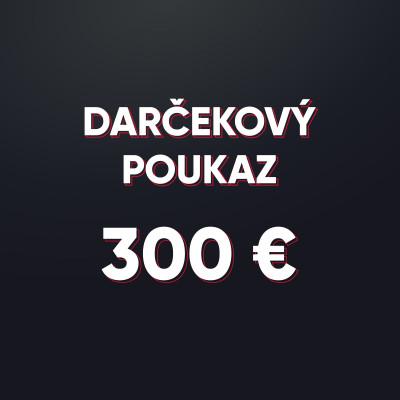 Darčeková poukážka v hodnote 300 € - elektronická forma