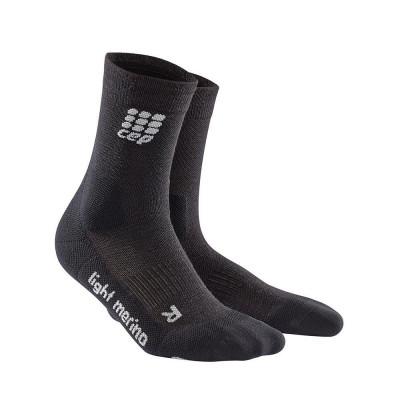 Kompresné ponožky pánske CEP Ultralight Merino čierne