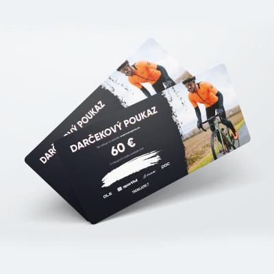 Darčeková poukážka v hodnote 60 € - tlačená forma