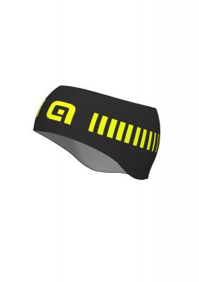 Cyklistická čelenka Alé STRADA Headband čierna/žltá