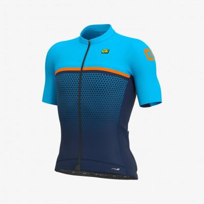 Letný cyklistický dres pánsky Alé PRS Bridge modrý