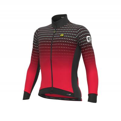 Zateplený cyklistický dres pánsky Alé PRS Bullet DWR červený