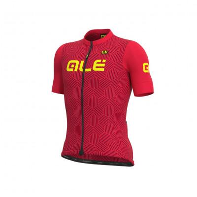 Letný cyklistický dres pánsky ALÉ SOLID CROSS červený