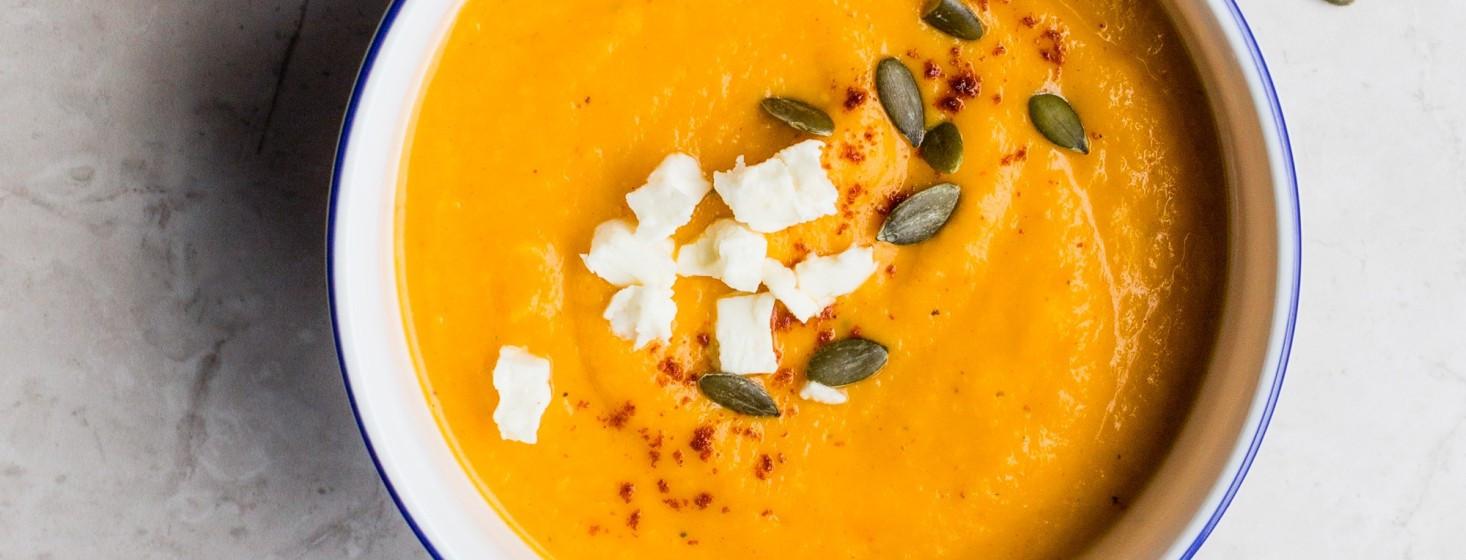 Pripravte si zdravú polievku z tekvice hokaido