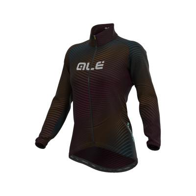 Zimná cyklistická bunda dámska Alé KLIMATIK Guscio Rings farebná