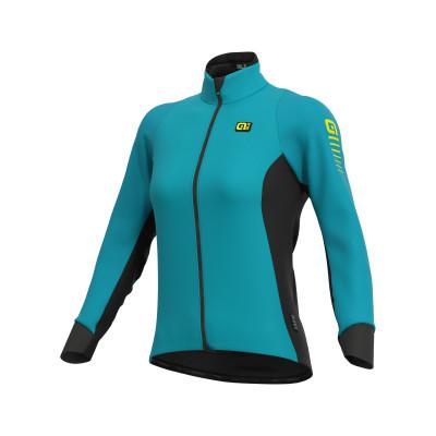 Zimná cyklistická bunda dámska Alé R-EV1 Clima Protection 2.0 modrá