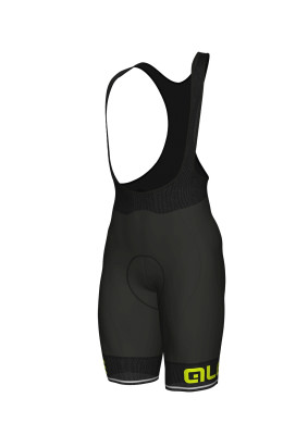 Letné cyklistické nohavice pánske Alé Corsa SOLID čierne/žlté