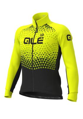 Zimná cyklistická bunda pánska Alé Solid Summit Dwr čierna/žltá