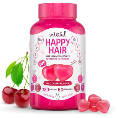 Vlasové vitamíny Happy Hair Vitaful 120 kapsúl