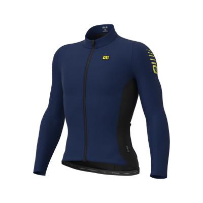Zateplený cyklistický dres pánsky ALÉ R-EV1 CLIMA PROTECTION 2.0 WARM RACE JACKET modrý