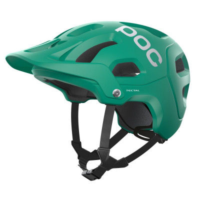 MTB prilba na bicykel POC Tectal Jade Green Matt tmavozelená