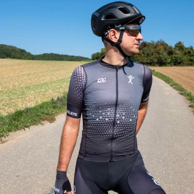 Cyklistický dres Alé PR-S Trenujeme s krátkym rukávom pánsky - čierna, antracitová