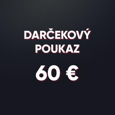 Darčeková poukážka v hodnote 60 € - elektronická forma