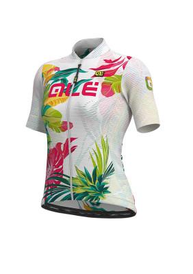 Letný cyklistický dres dámsky Alé SOLID Tropika Lady biely