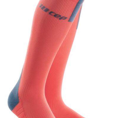 Bežecké kompresné ponožky dámske CEP 3.0 korálové