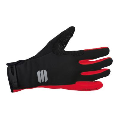 Zimné cyklistické rukavice Sportful WindStopper Essential 2 čierne/červené