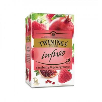 Twinings ovocný čaj Infuso Malina & Granátové jablko 20x2 g