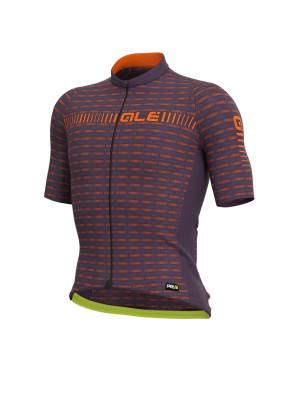 Letný cyklistický dres pánsky Alé GRAPHICS PRR Green Road fialový/oranžový