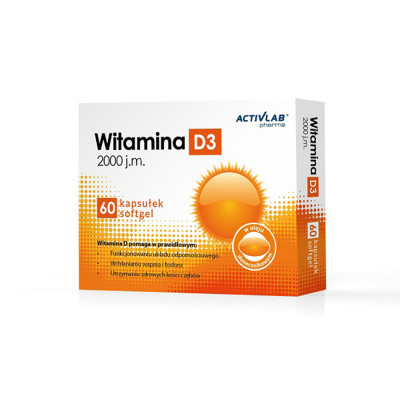 Vitamín D3 ActivLab 2000 IU 60 kapsúl