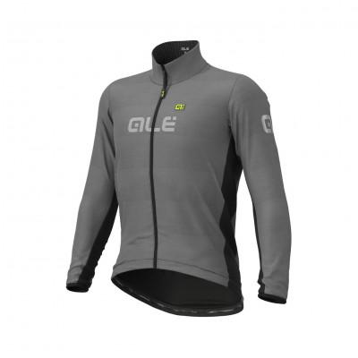 Zimná cyklistická bunda pánska Alé Guscio sivá/čierna