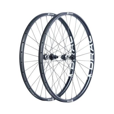 Karbónové kolesá pre horský bicykel D.R.A.C. Wheels MTB DRAC 29, DT240 Boost, plášť, čierne/biele