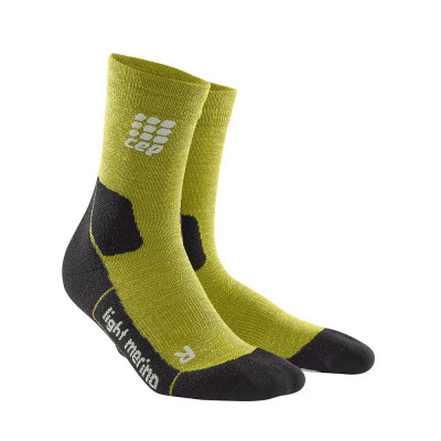Kompresné ponožky pánske CEP Ultralight Merino zelené