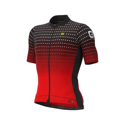 Letný cyklistický dres pánsky Alé PRS Bullet čierny/červený