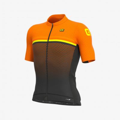 Letný cyklistický dres pánsky Alé PRS Bridge oranžový